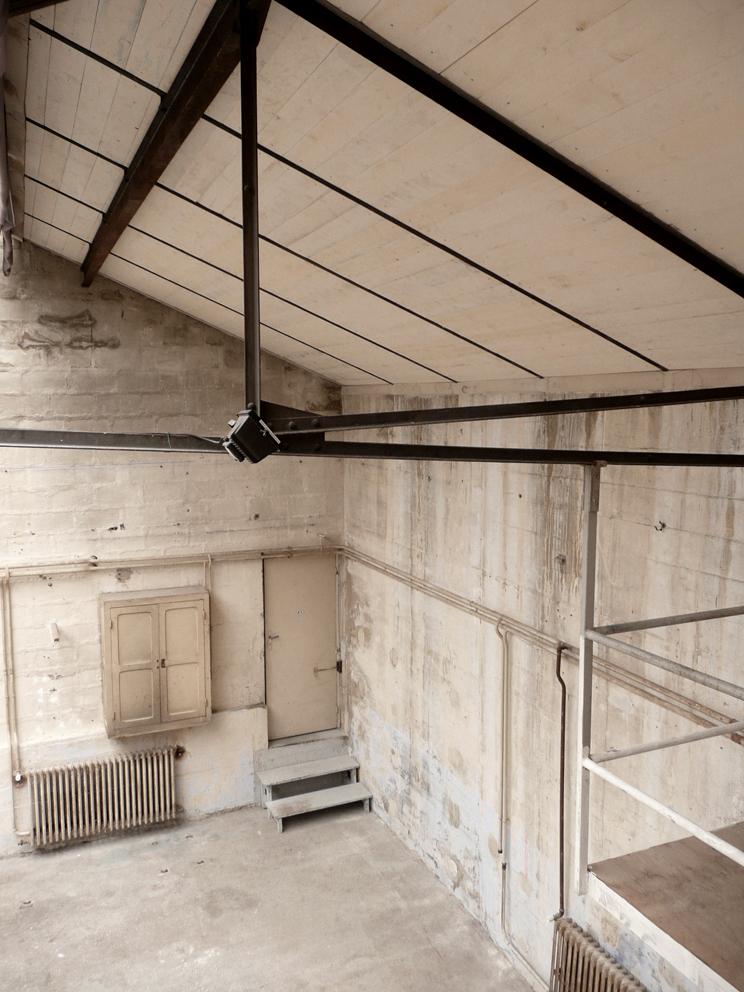 Mezzanine vue plafond