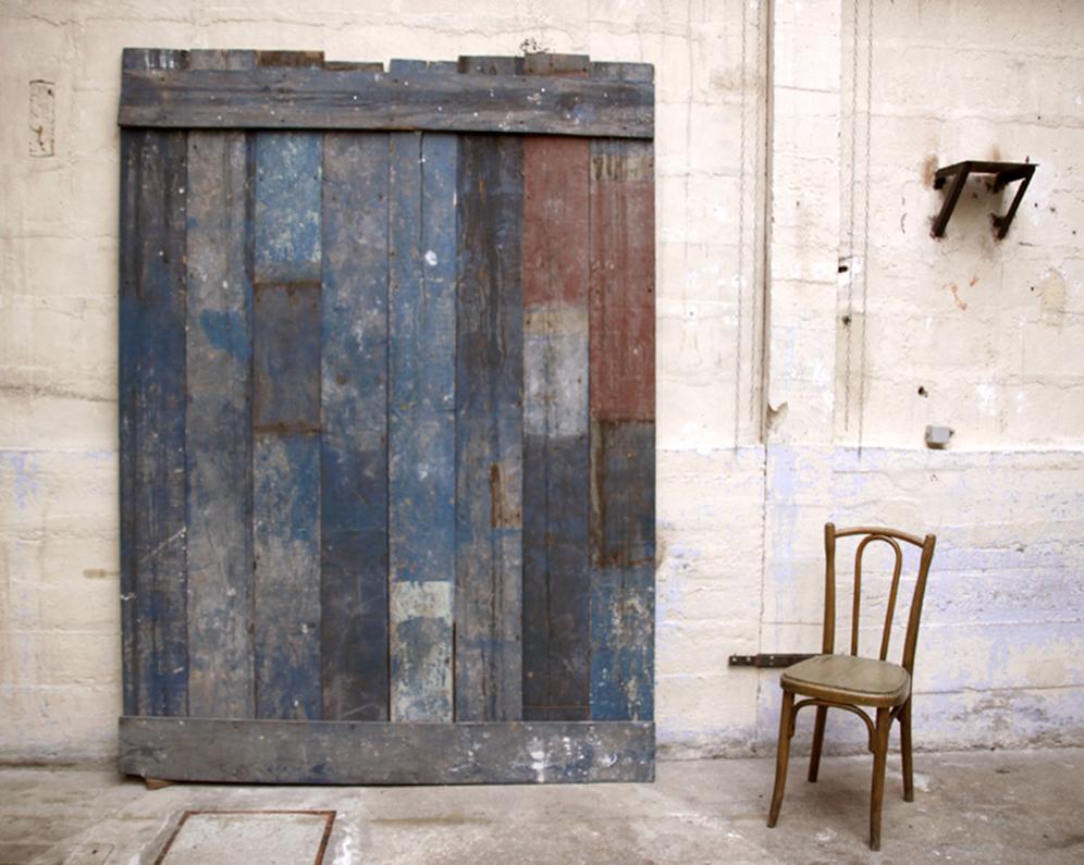 Palissade bois bleue