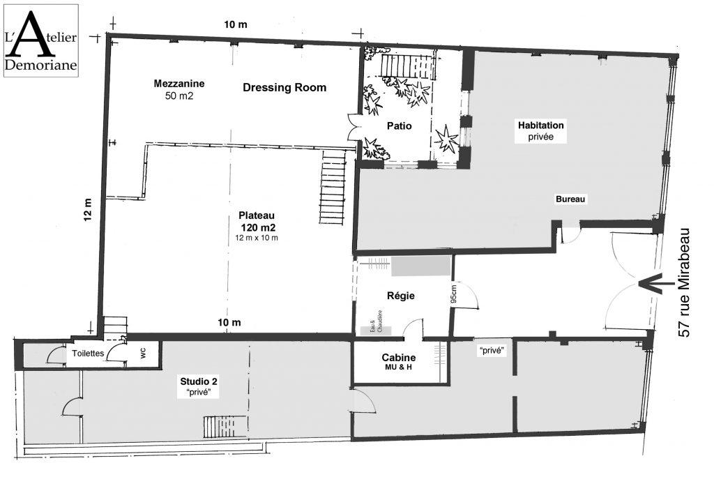 Plan de L'Atelier Demoriane