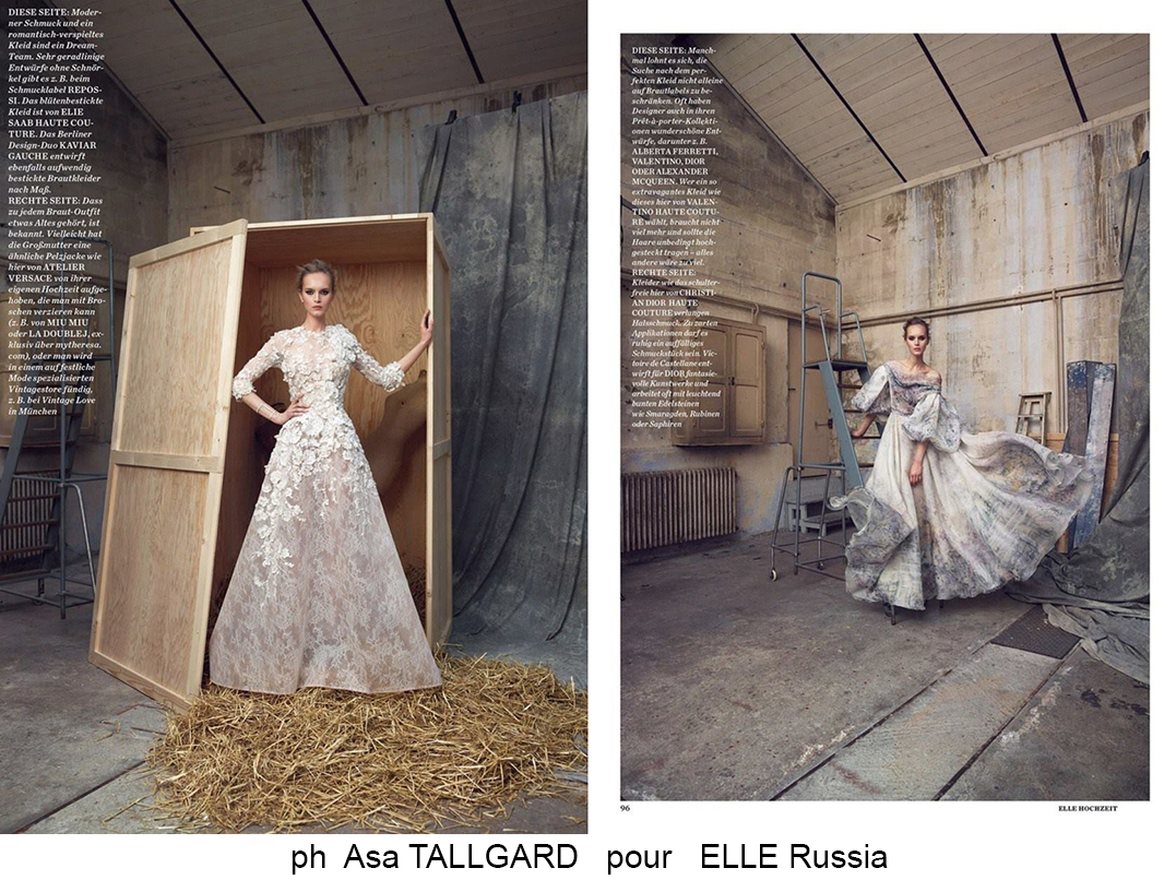Asa Tallgard pour ELLE Russia
