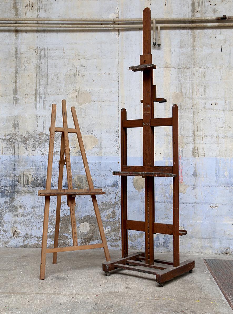 Chevalets de peintre en bois