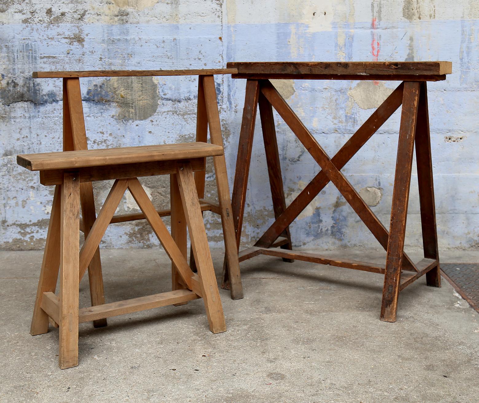Tréteaux en bois