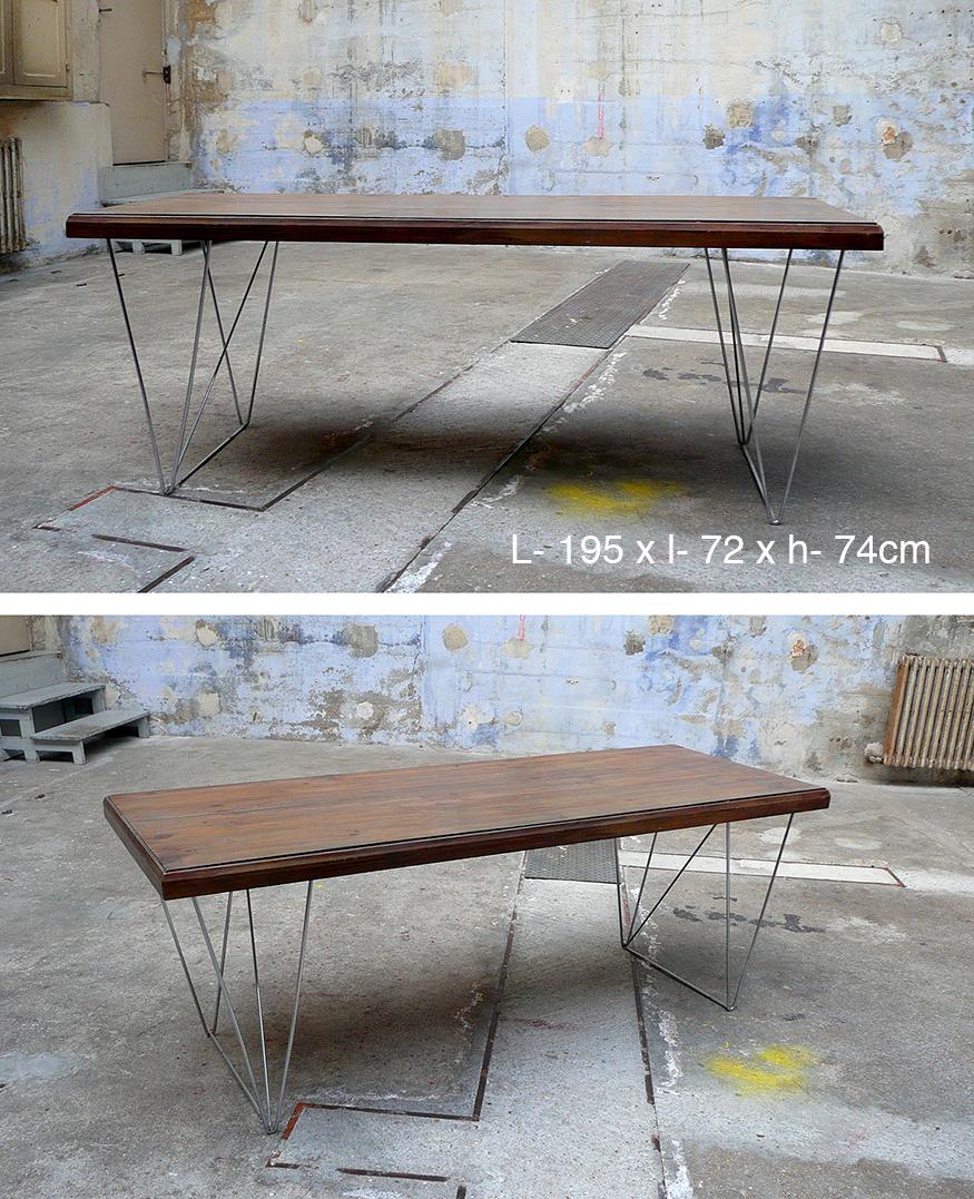 Table en Bois et chrome